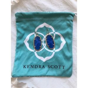 Kendra Scott Blue/Gold Elle Drop Earrings